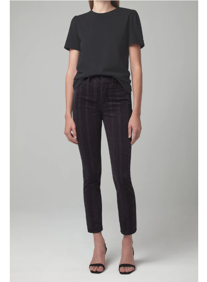 OLIVIA HIGH RISE SLIM (VARIEGATED CORDUROY)