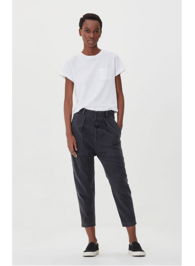 HARRISON TAPERED PANT IN WASHED BLACK