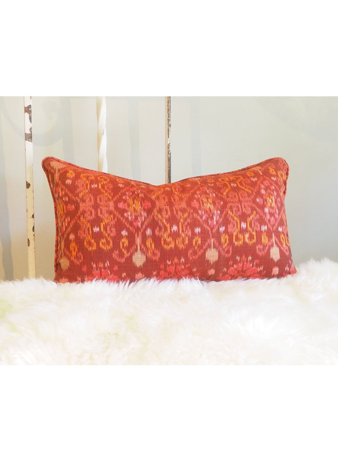 "20"" X 12"" HANDCRAFTED MULTI COLOR PILLOW, MADE IN BALI"