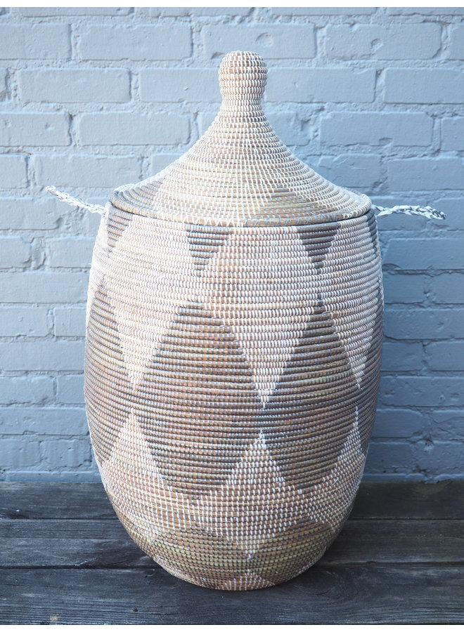 HANDMADE AFRICAN LAUNDRY BASKET,