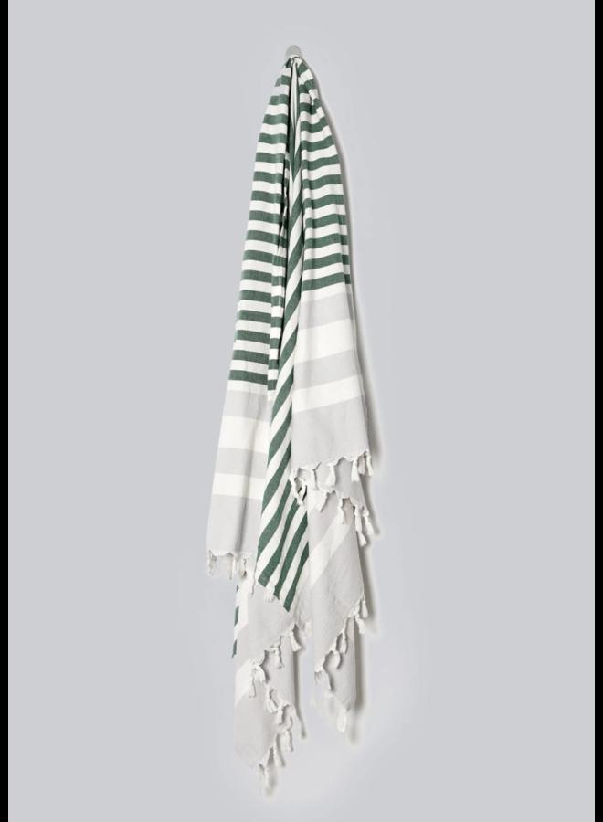 HAND WOVEN NAUTICAL TOWEL, CUCUMBER