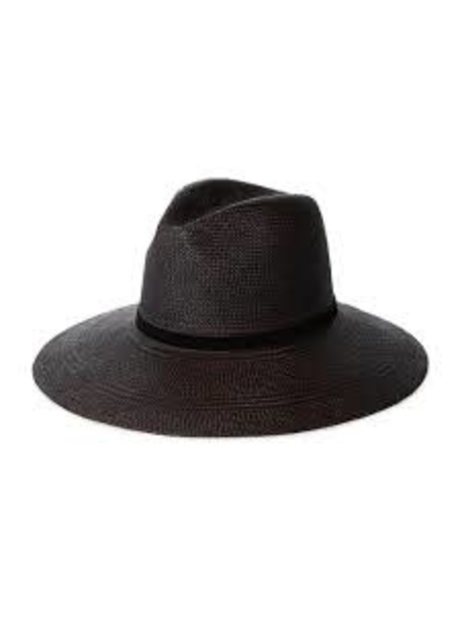 SELMA BLACK PANAMA STRAW HAT