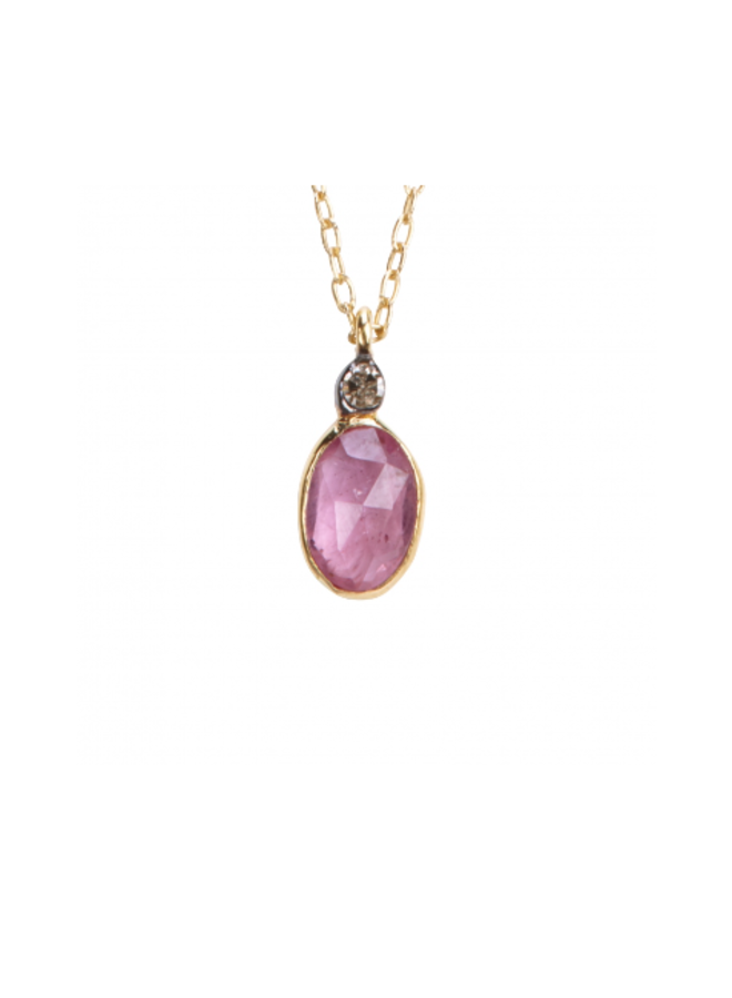COLLIER ABY, PINK SAPPHIRE