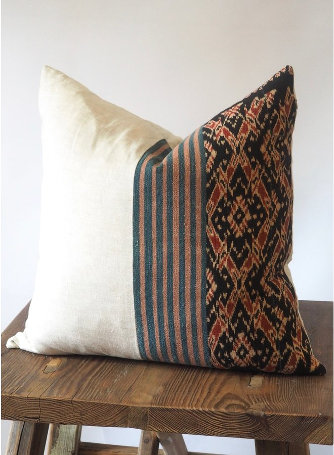 VINTAGE INDONESIAN WOVEN IKAT PILLOW