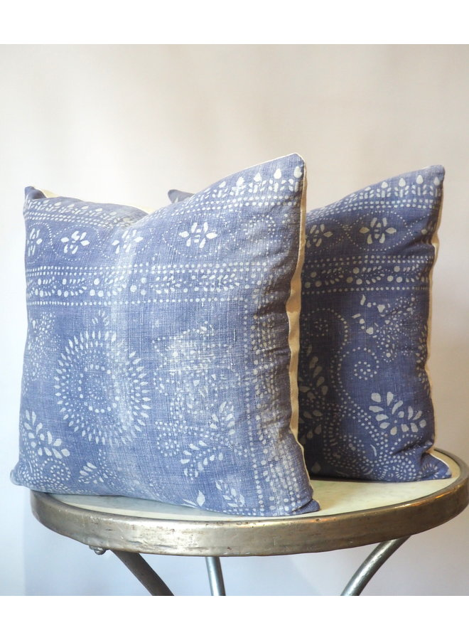 PURPLE INDIGO BATIK PILLOW