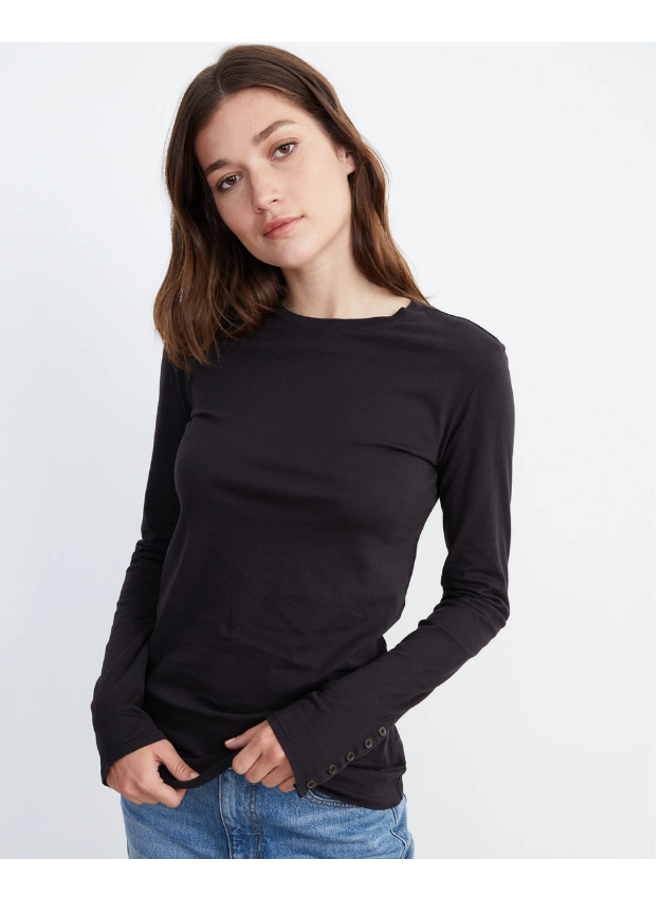 ROZALIA SUEDED JERSEY TEE