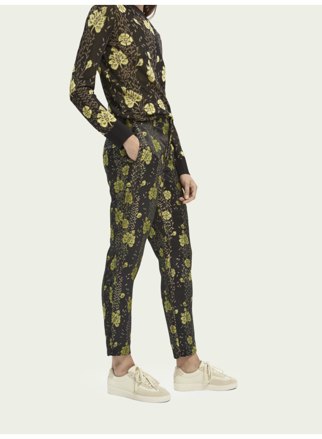 TAILORED PANTS IN FLORAL JACQUARD