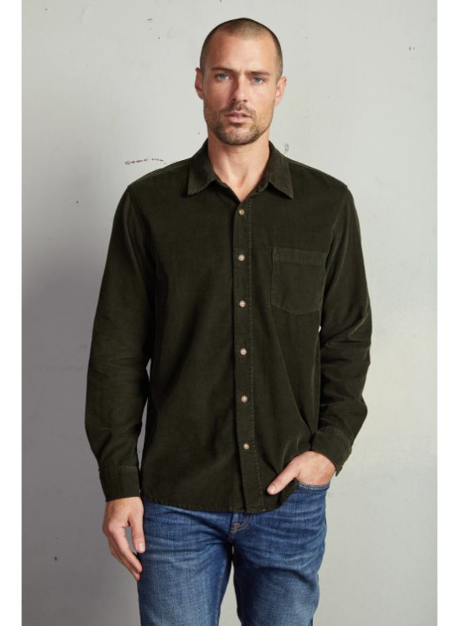 CAREY CORDUROY BUTTON UP