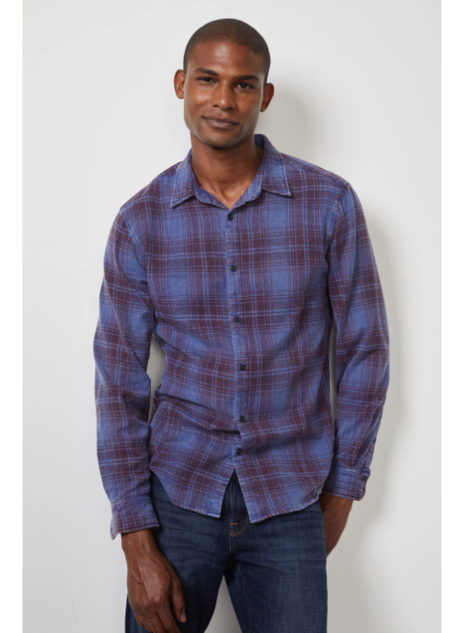 KENNETH PLAID BUTTON DOWN