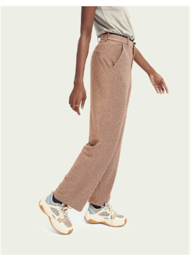 WIDE LEG PANTS IN STRETCH LUREX QUALITY