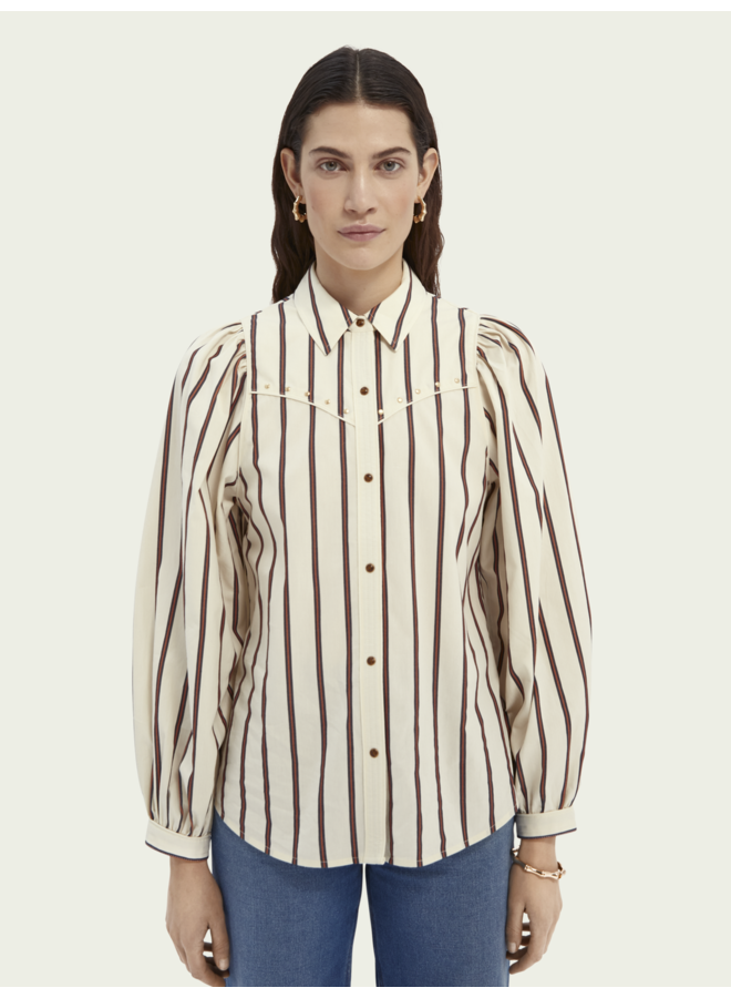 WESTERN SHIRT WITH BALLOON SLEEVES