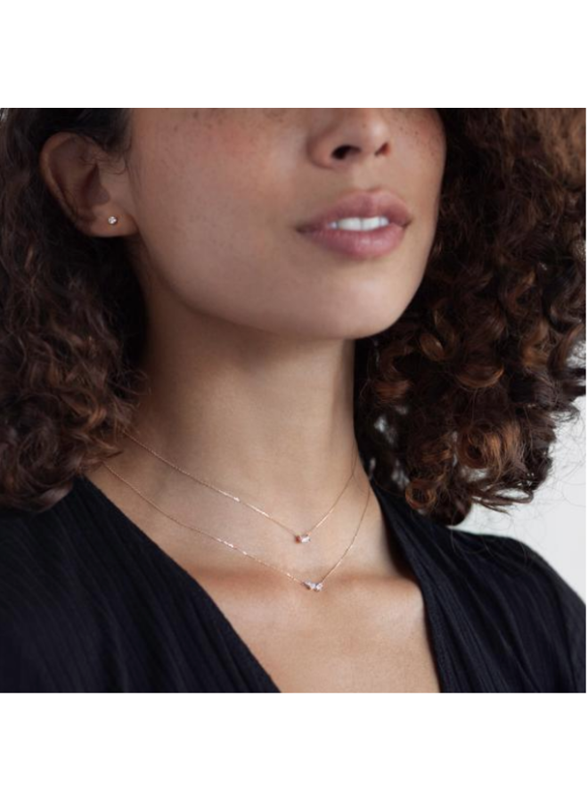 SCATTERED DIAMOND NECKLACE 14K YELLOW GOLD
