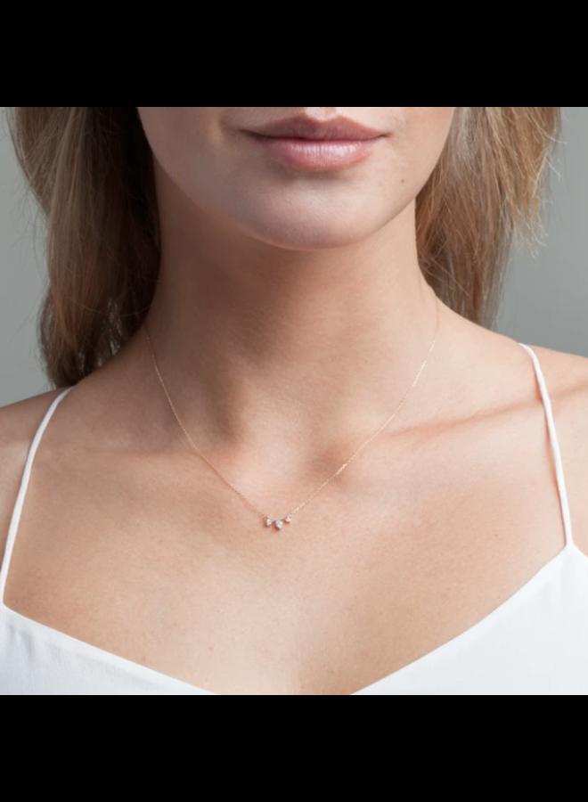 3 DIAMOND AMIGOS CURVE NECKLACE