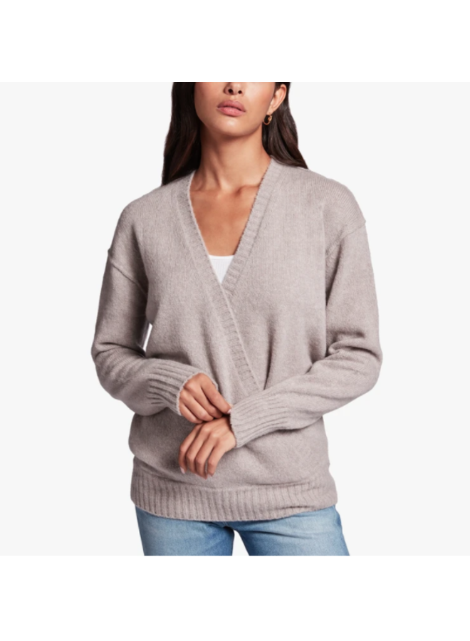 CROSSOVER CASHMERE SWEATER