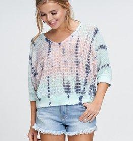 tie dye knit top