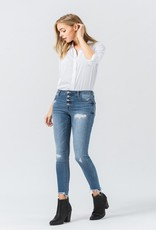 exposed button jean