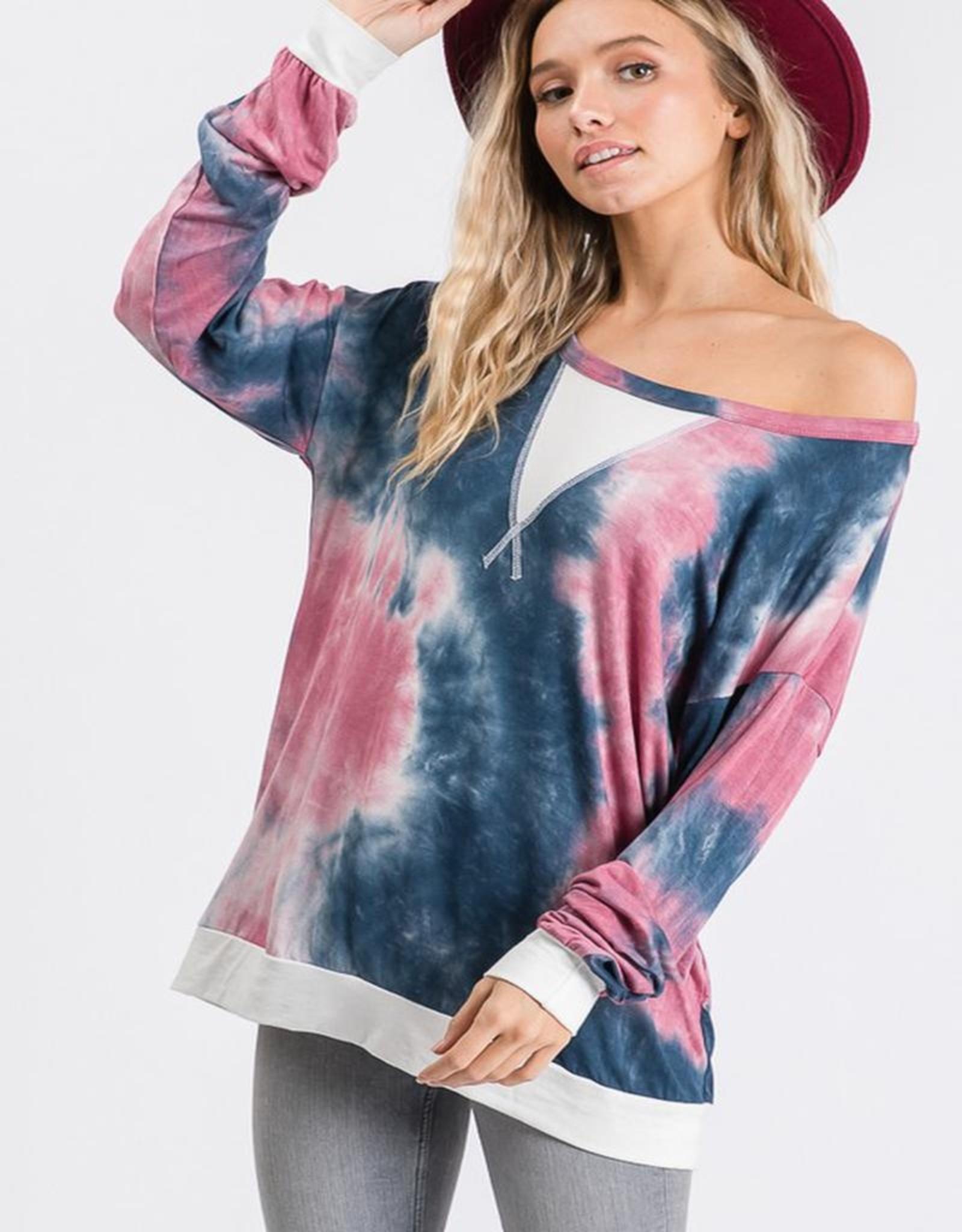 Long sleeve tie dye top
