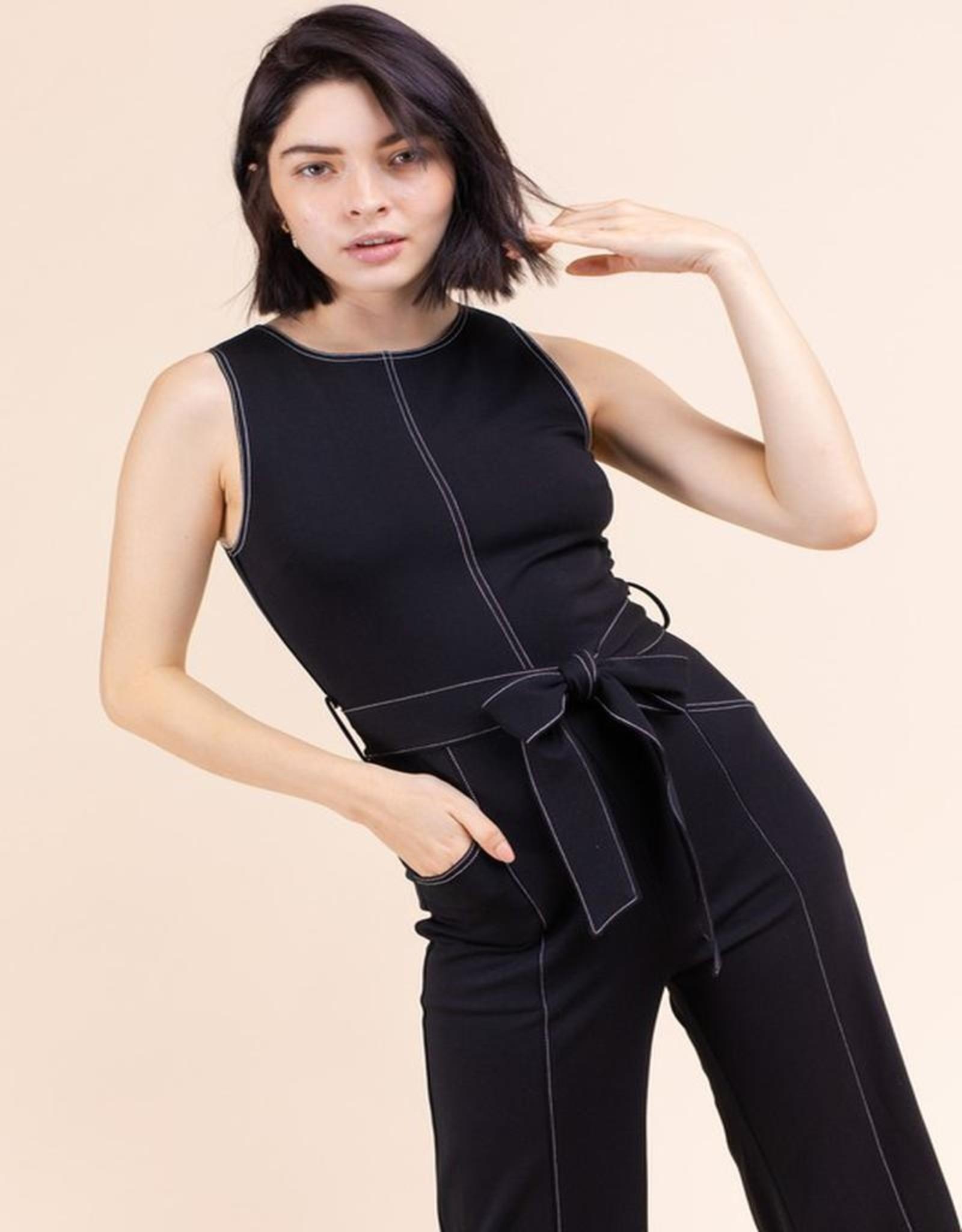 Belted jumpsuit