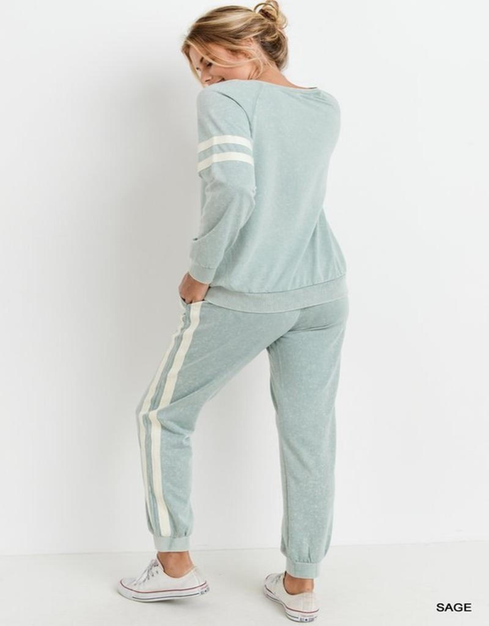 Side stripe sweattop