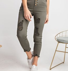 Button front pant