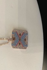 multi color rhinestone necklace