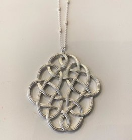 silver scroll necklace