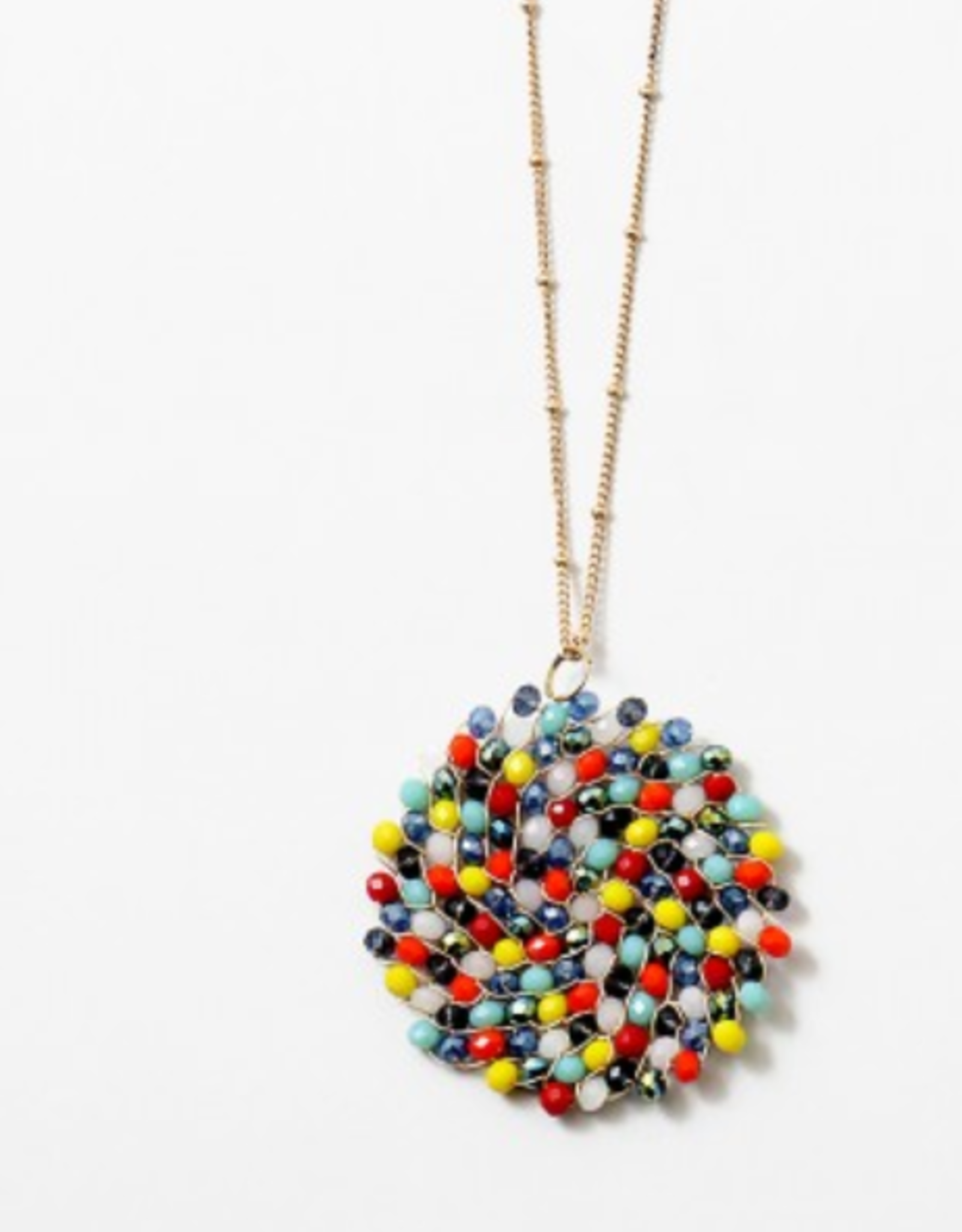 Multi color bead necklace