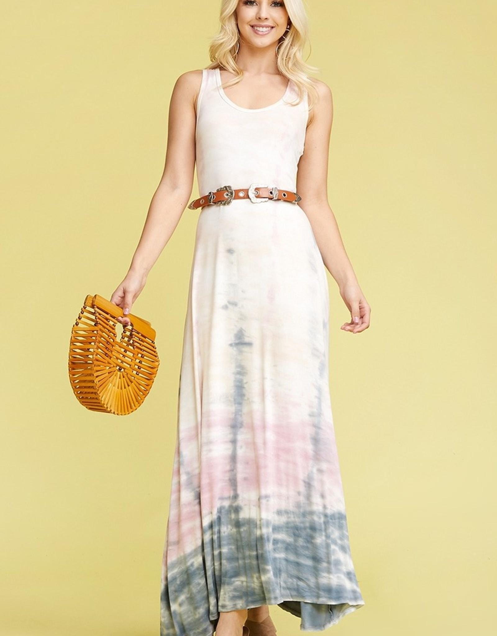 Towne Tie dye maxi dress