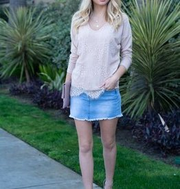 Lace sweat top