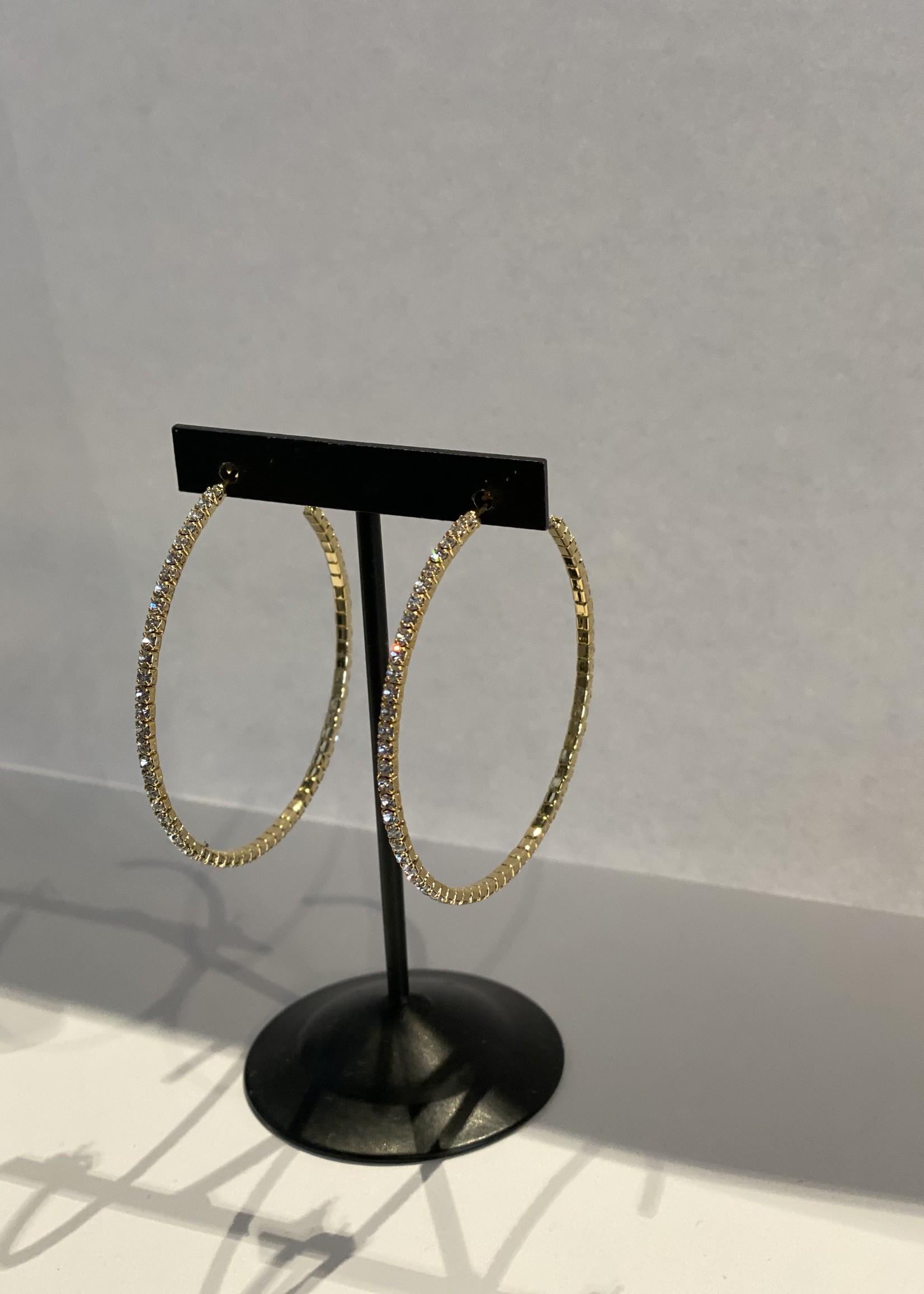 Large rhinestone hoop