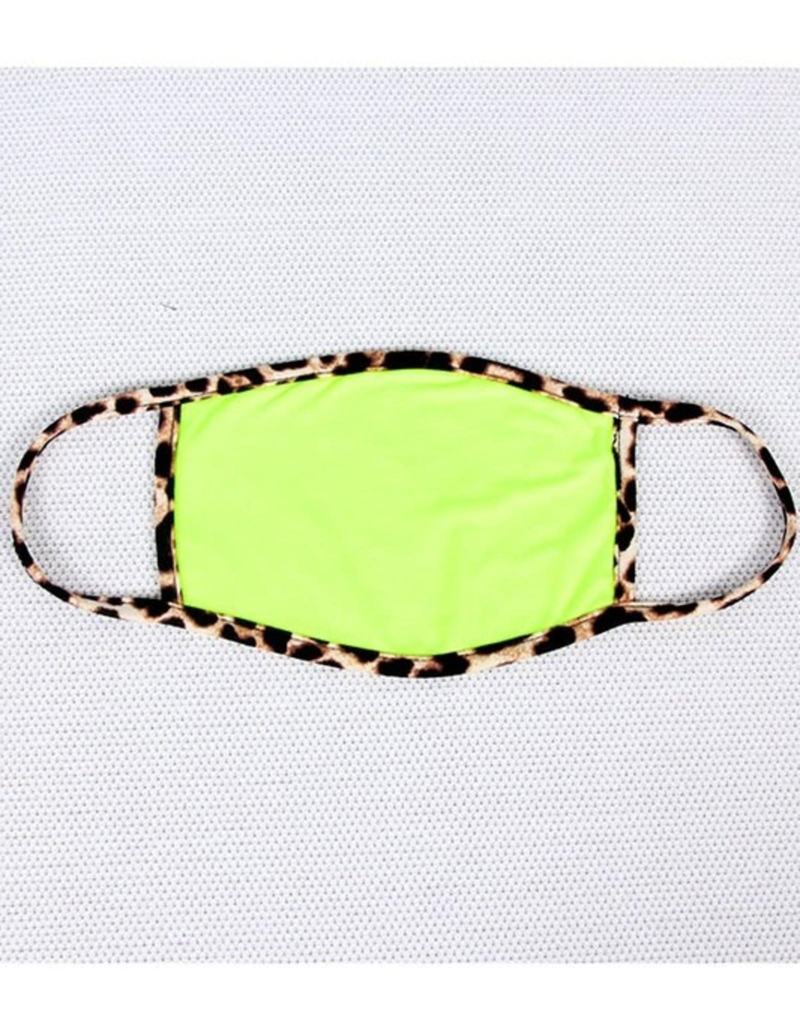 leopard trim mask