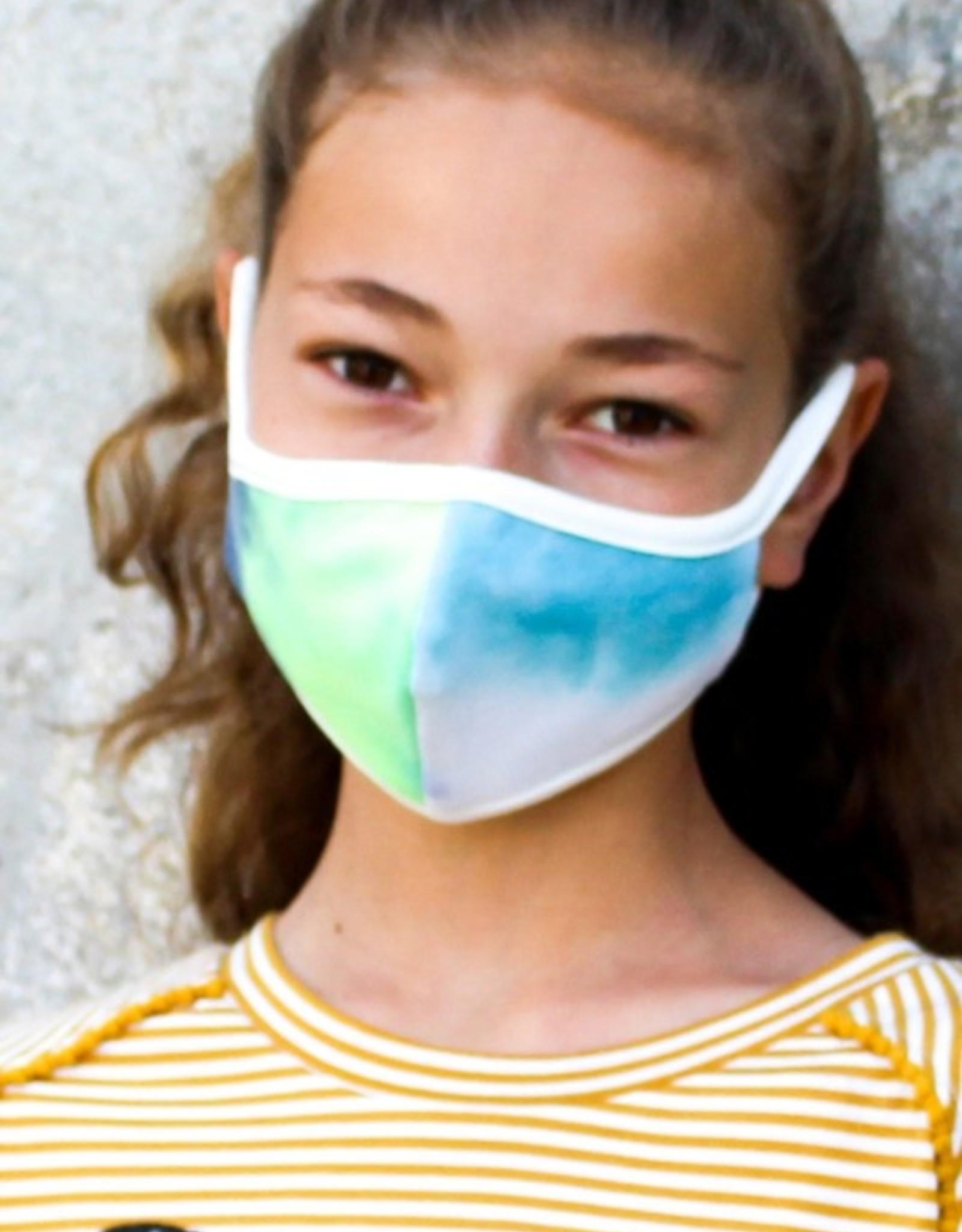 kids tie dye mask