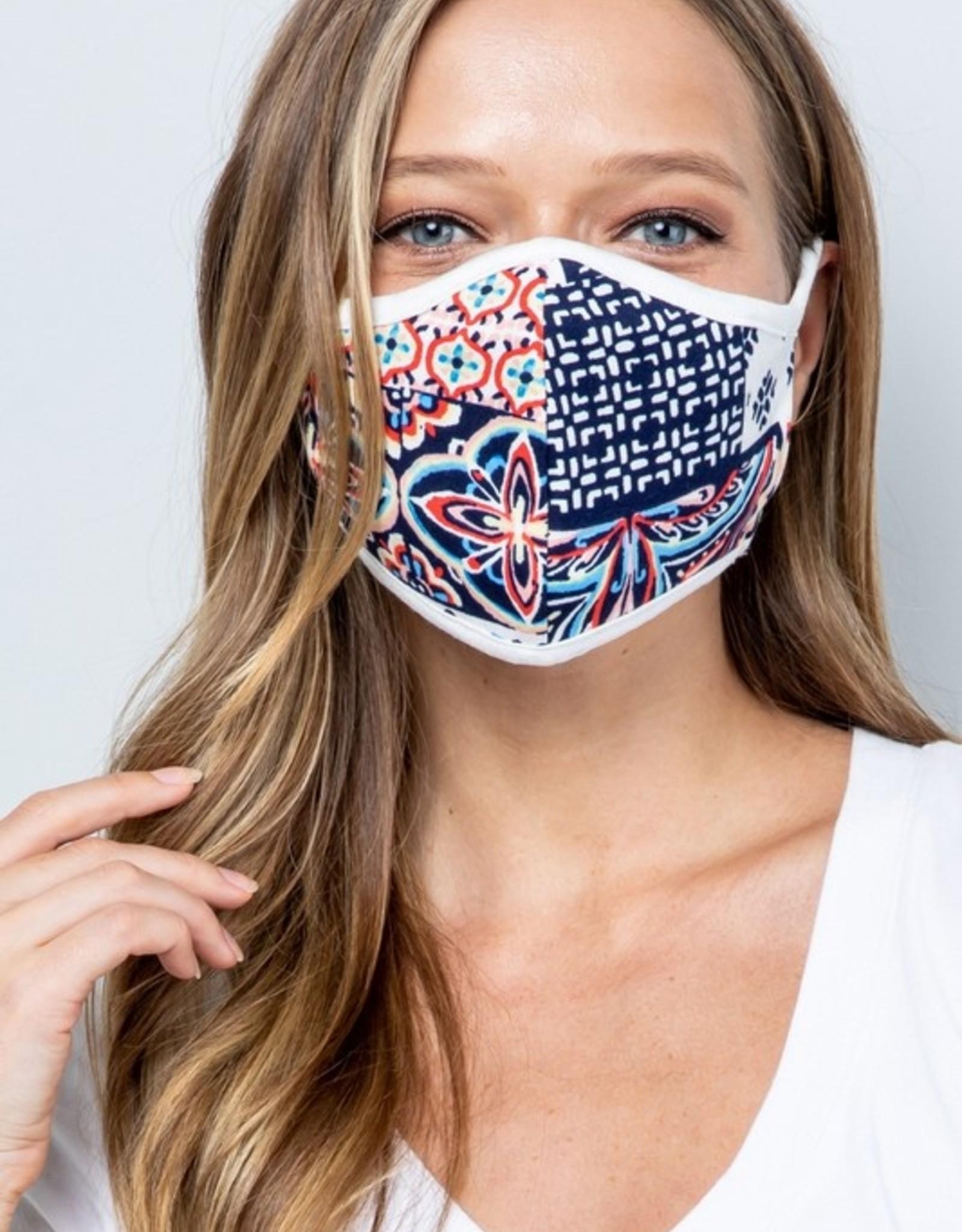 geometric navy mask