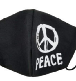 peace mask black