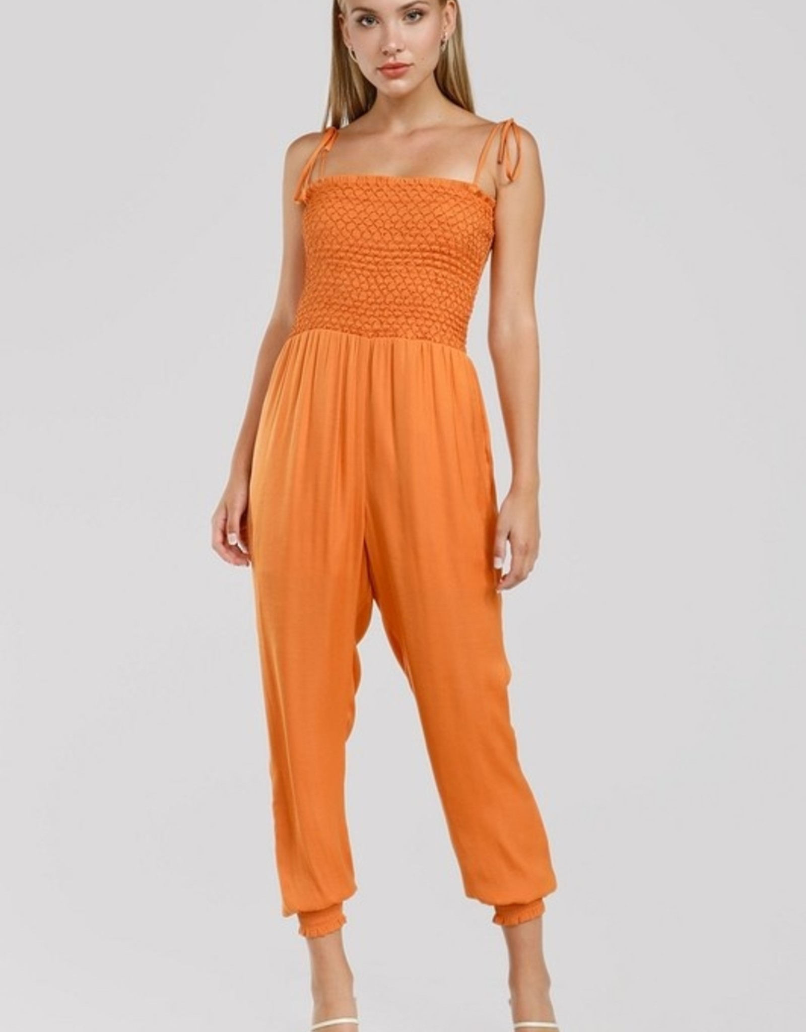 Smocked jumpsuit