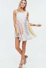 Tie dye mini dress