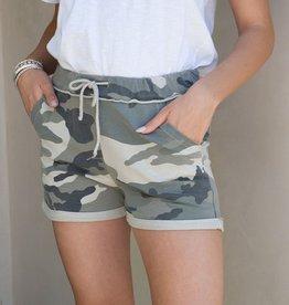 Camo cuff shorts