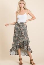 Ruffled camo skirt