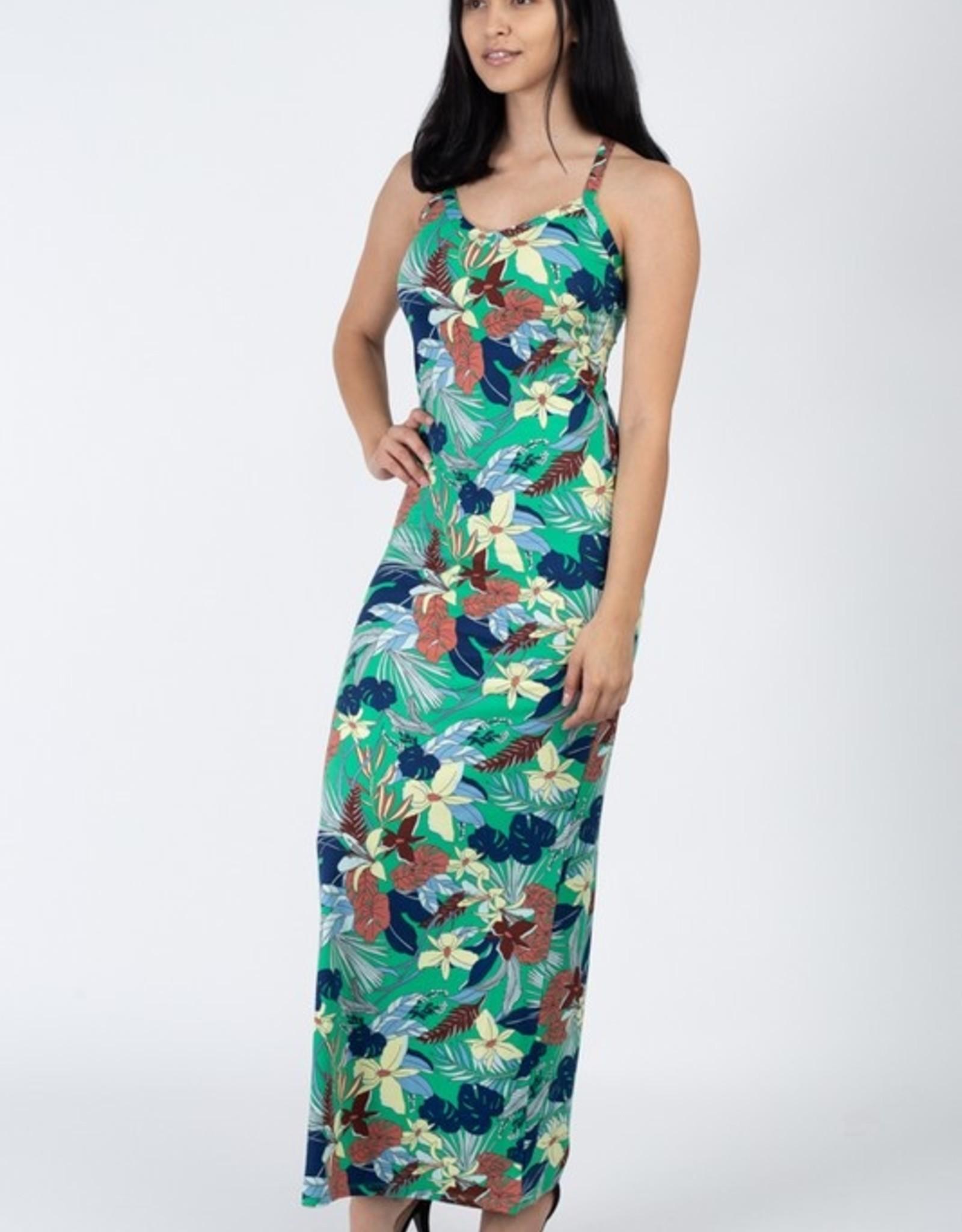 Floral print maxi