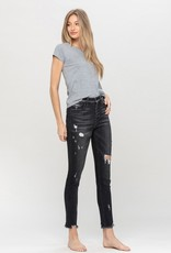 Button front jean