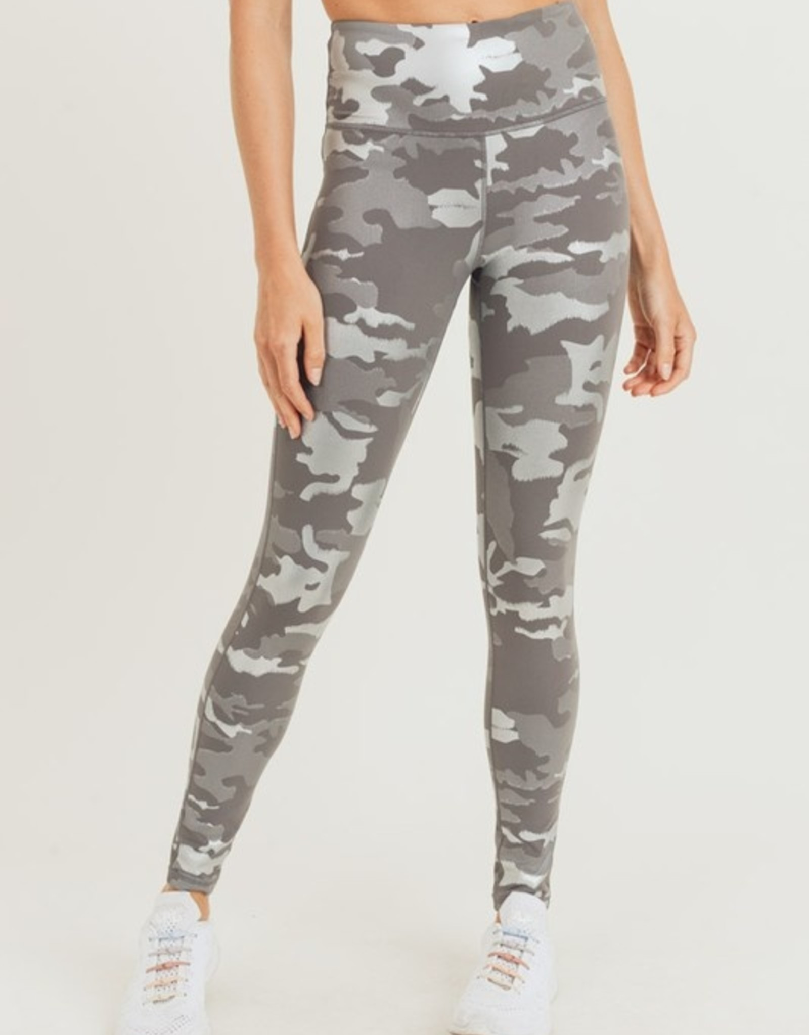 Metallic camo legging