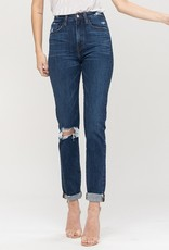 Rollup slouchy jean