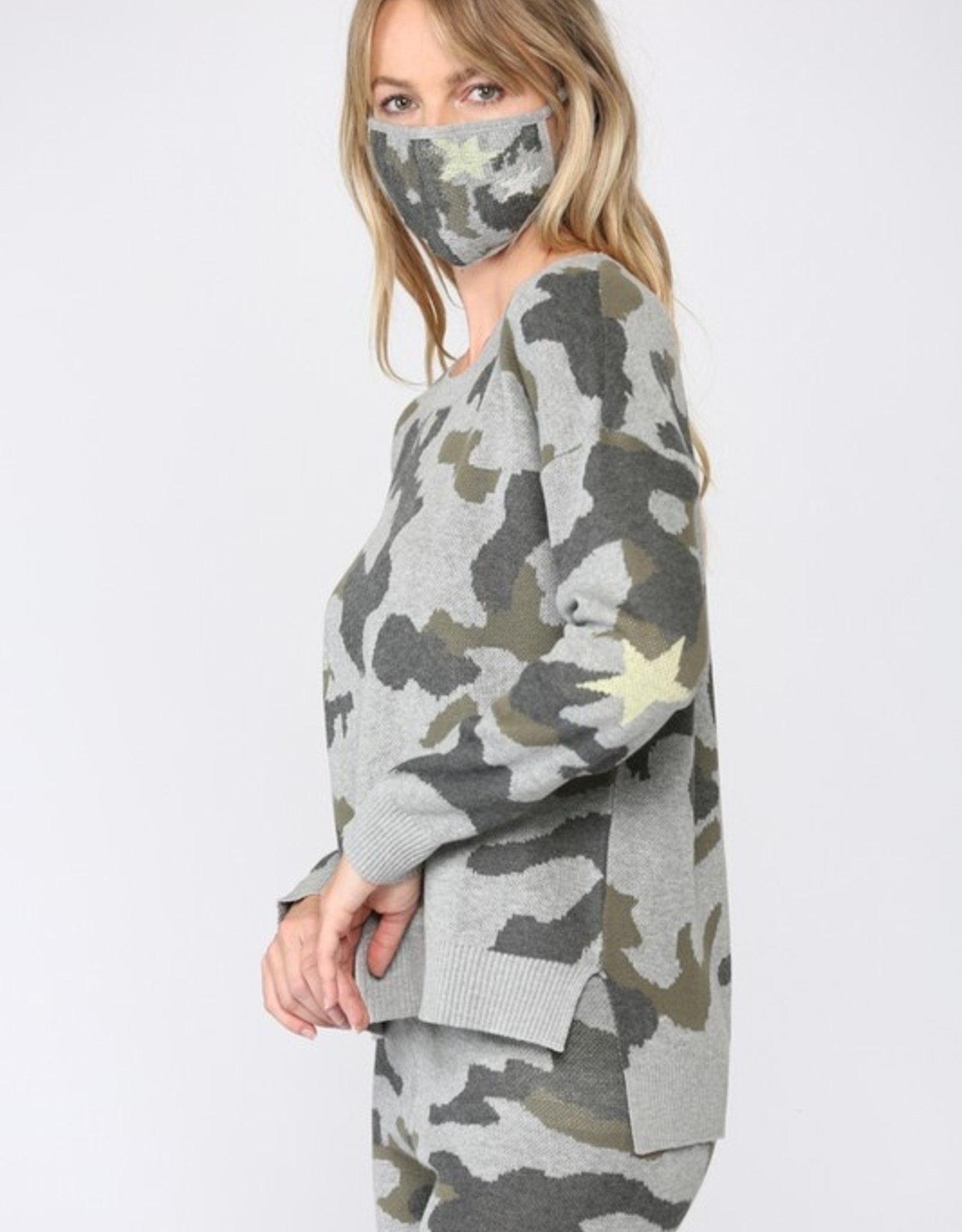 Camo sweater and mask
