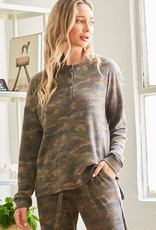 Camo thermal henley