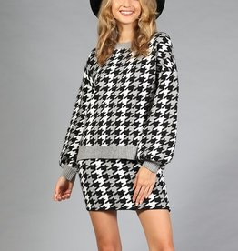 Houndstooth sweater
