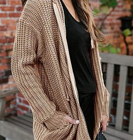 Frayed zip sweater
