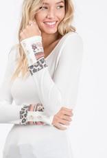 Patchwork wrist top