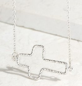 Open cross necklace