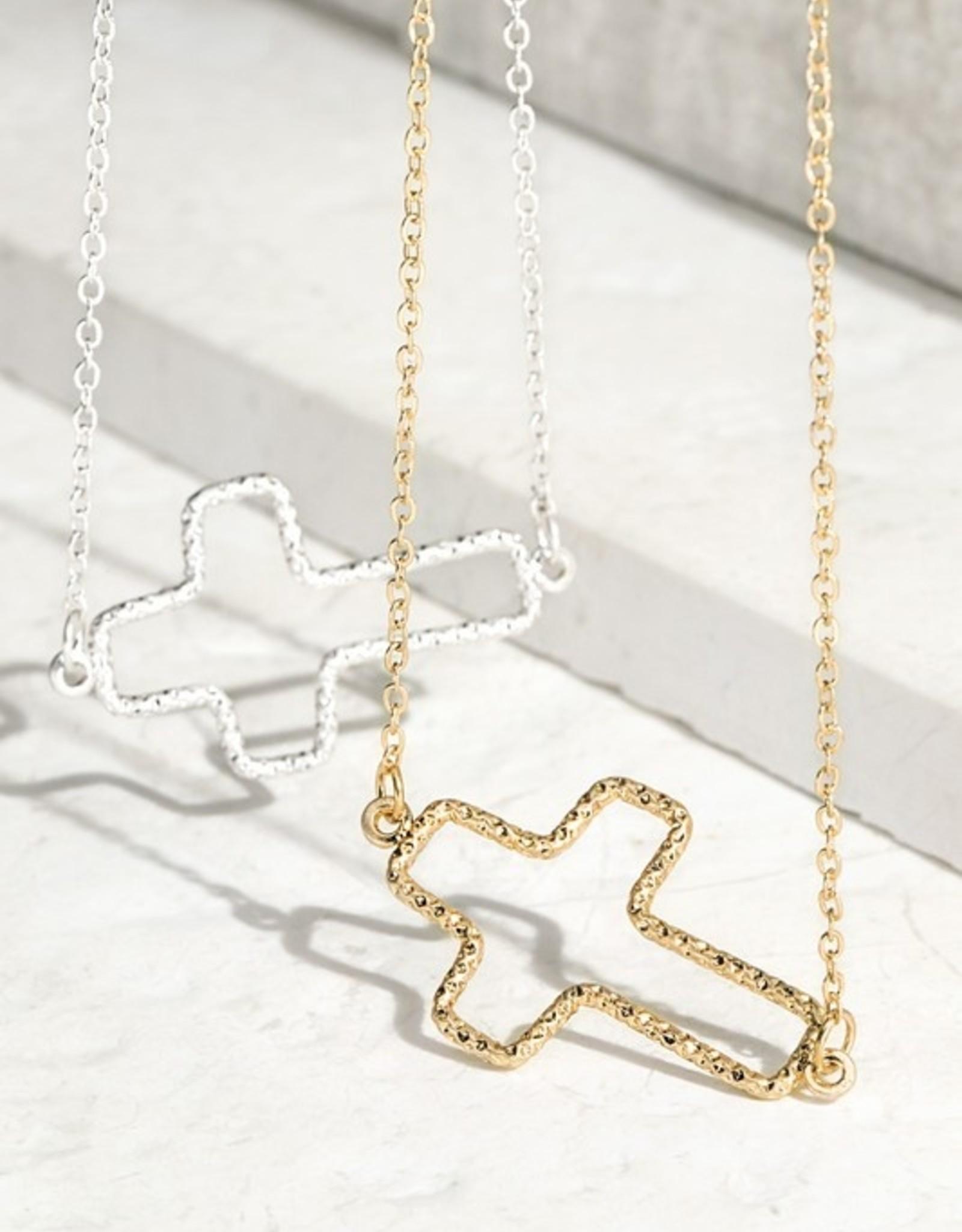 Open cross necklace
