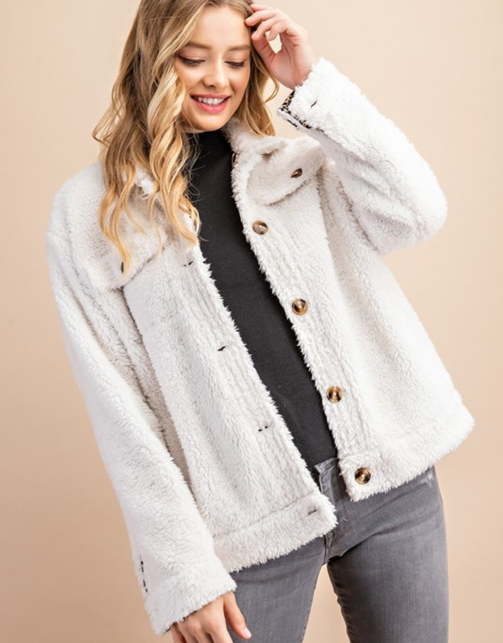 Sherpa button up jacket